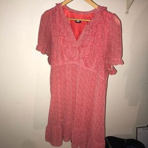 Red summer dress